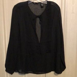 New York and company sheer black blouse